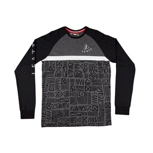 Leatt Tribal Long Sleeve T-Shirt - Grey Black
