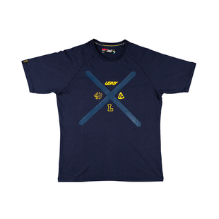 Leatt Stadium Short Sleeve T-Shirt - Navy Blue