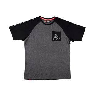 Leatt Tribal Short Sleeve T-Shirt - Grey Black
