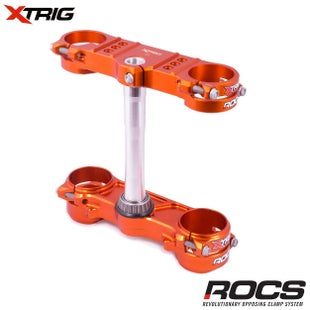 XTrig ROCS Tech Triple Clamp Set Orange KTM SX125 150 1317 SX250 1 Triple Clamp - 17, (OS 22mm) M12
