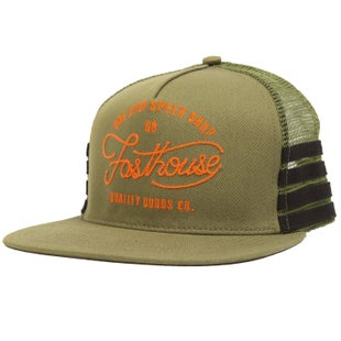 Fasthouse One Stop Hat Olive Cap - ne Stop Hat Olive