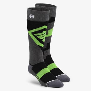 100 Percent Torque Comfort Moto Socks MX Boot Socks - Lime