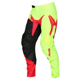 Alias YOUTH A2 Burst MX Boys Motocross Pants - Neon Yellow Red