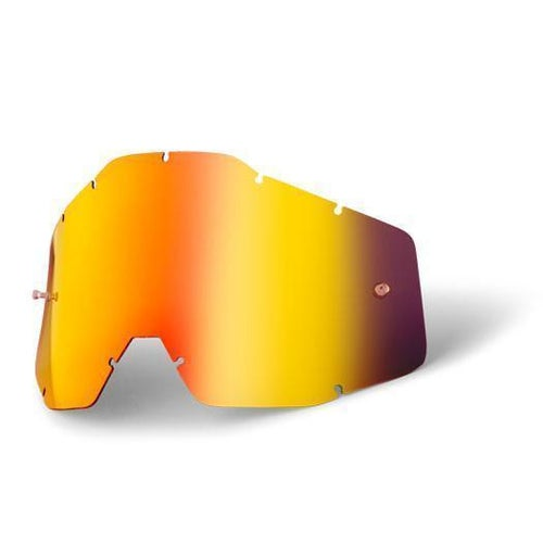 100 Percent Anti Fog YOUTH MX-Schutzbrillenglas - Mirror Red