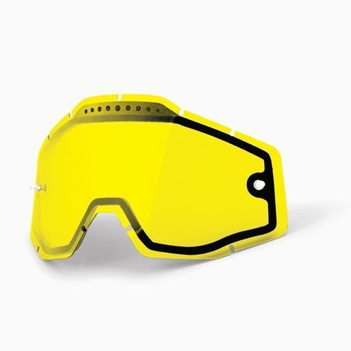 100 Percent Dual Vented MX Goggle Lens - Yellow Vented Dual