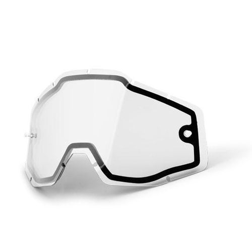 100 Percent Dual Vented Motocross Goggle Lense - Clear Dual