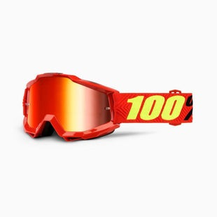 100 Percent Accuri Saarinen YOUTH Motocross Goggles - Mirror Red Lens
