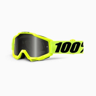 100 Percent Accuri Fluo Yellow Sand MX Brillen - Grey Lens + Clear Lens