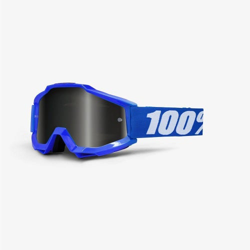 100 Percent Accuri Reflex Blue Motocross Goggles - Grey Lens + Clear Lens