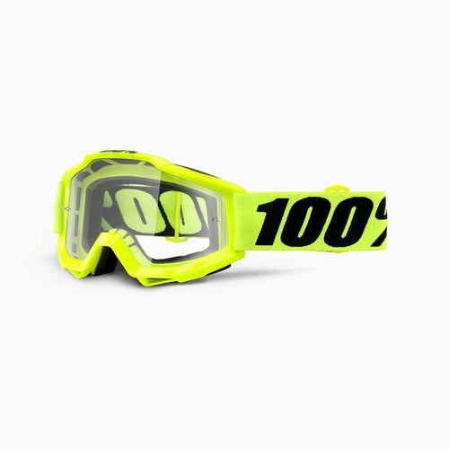 100 Percent Accuri Fluo Yellow OTG Motocross Goggles - Clear Lens