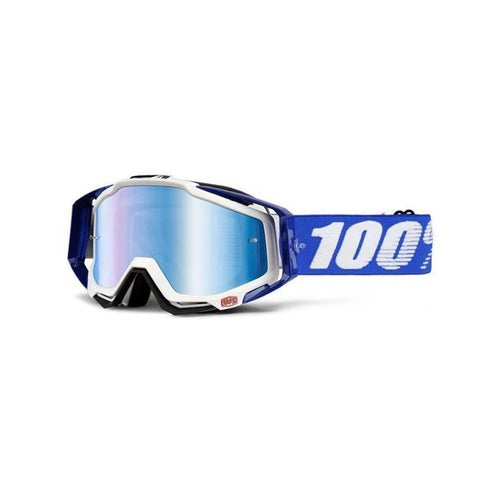 100 Percent Racecraft Cobalt Motocross Goggles - Mirror Blue Lens + Clea