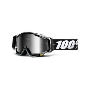 100 Percent Racecraft Abyss Motocross Goggles - Mirror Silver Lens ~ Clear