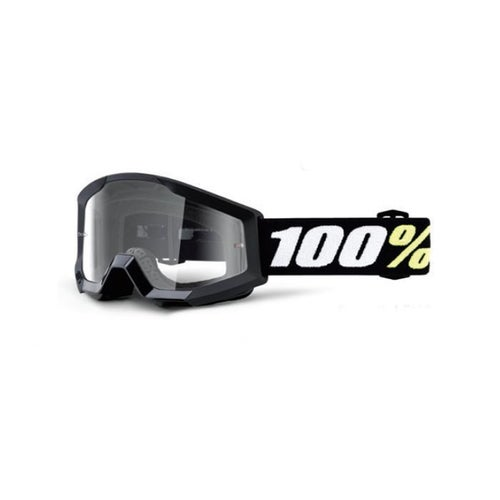 100 Percent Strata Mini KIDS Motocross Goggles - Clear Lens