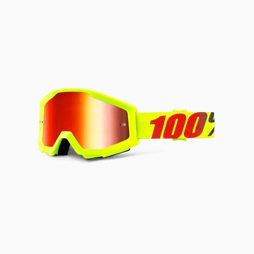 100 Percent Strata Mercury Motocross Goggles - Mirror Red Lens
