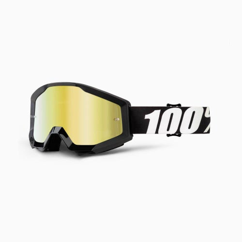 100 Percent Strata Outlaw , MX-glasögon - Mirror Gold Lens