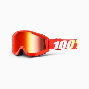 100 Percent Strata Furnace Motocross Goggles - Mirror Red Lens