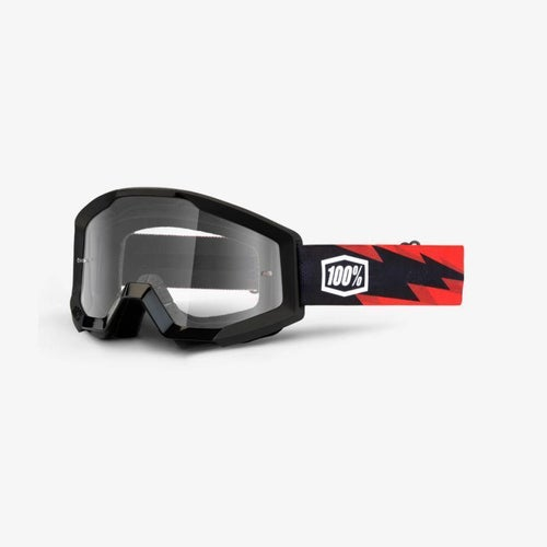 100 Percent Strata Slash Motocross Goggles - Clear Lens