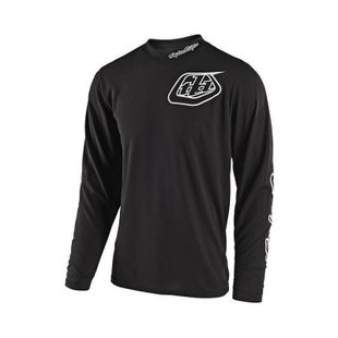 Troy Lee GP YOUTH Motocross Jersey Boys Motocross Jerseys - Mono Black