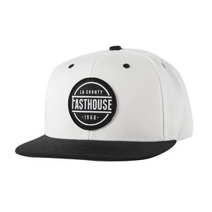 Fasthouse Adult LA County Cap Cap - Black White