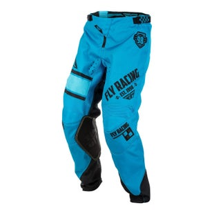 Fly Kinetic Era YOUTH MX Motocross Pants Boys Motocross Pants - Blue Black