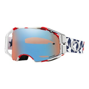 Oakley AirbrakeTroy Lee Designs Freedom Red White Blue Motocross Goggles - Prizm Sapphire Iridium Lens