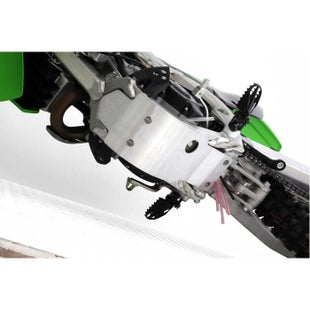 Zeta MX Glide Plate Kawasaki KXF250 09 Skid And Bash Plate - Grey