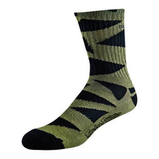 Troy Lee Edge Crew Socks - Black Army