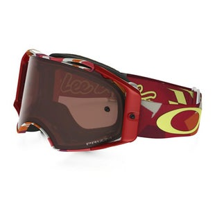 Oakley Airbrake PRIZM MX TLD Splinter Red Orange Motocross Goggles - Bronze