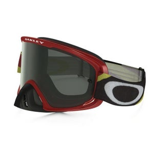 Oakley O2 MX Motocross Heritage Racer Red Motocross Goggles - Dark Grey