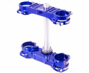 XTrig ROCS Tech Triple Clamp Set Yamaha YZF250 1216 OS 22mm M12 Triple Clamp - Blue