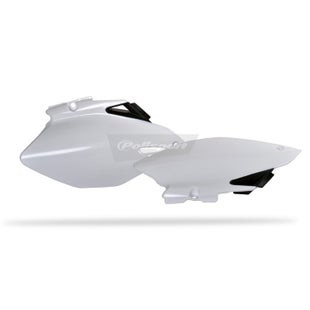 Polisport Plastics Side Panel Yamaha YZF250 450 0609 White OEM 06 , Side Panel Plastic - 09)