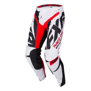 FXR Clutch Prime , MX-bukser - White/black/red