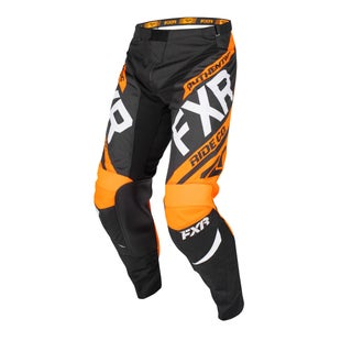 Spodnie MX FXR Clutch Retro - Black/orange/lt Grey