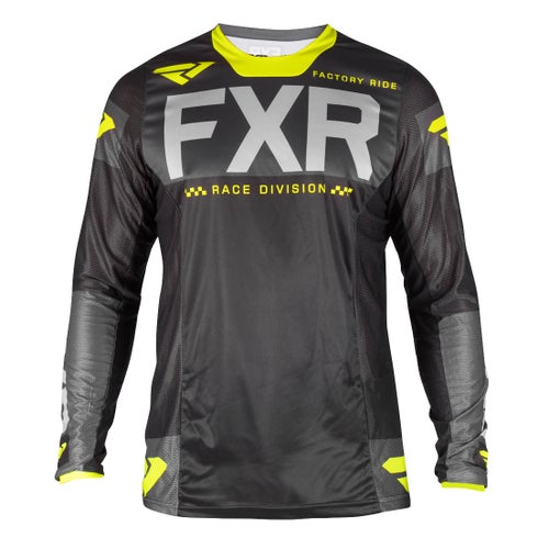 Jerseys MX FXR Helium - Black/char/grey/hivis
