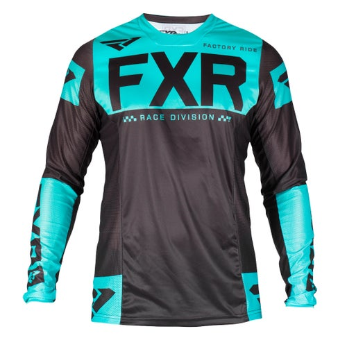 FXR Helium Motocross Jerseys - Black/mint