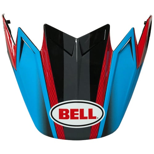 Bell Ps Moto 9 Flex Visor Hound Helmet Peak - Cyan/red