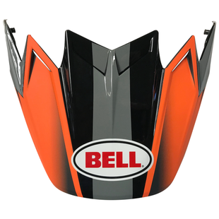 Bell Ps Moto 9 Flex Visor Hound Helmet Peak - Orange/charcoal