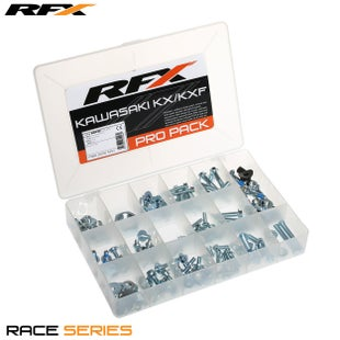 RFX Race Series Pro Bolt Pack (oem Style) Kawasaki Kx/kxf Bike Specific Bolt Pack - Silver
