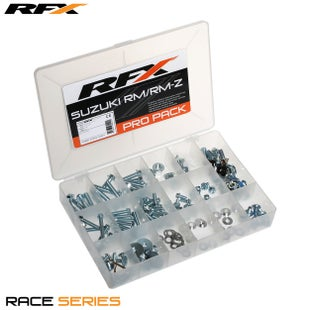RFX Race Series Pro Bolt Pack (oem Style) Suzuki Rm/rmz Bike Specific Bolt Pack - Silver