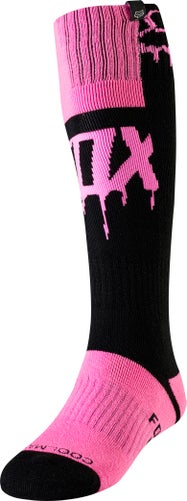 Fox Racing Mata Drip MX MX Boot Socks - Blk/pnk