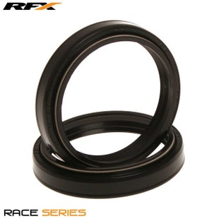 RFX Race Series Fork Seal Kit 49x60x10 Type TC4 Suzuki RM125 250 Fork And Dust Seal Kit - Black