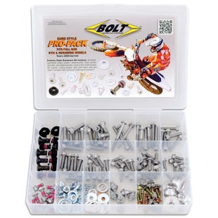 Bike Specific Bolt Pack Bolt Hardware KTM Husaberg Husqvarna Style Pro Pack Fastener Kit - grey
