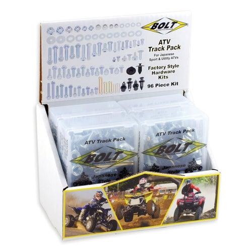 Bolt Hardware ATV Style Track Pack Fastener Kit Bike Specific Bolt Pack - grey