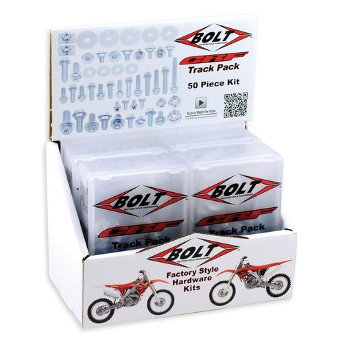 Bolt Hardware Honda CRF Style Track Pack Fastener Kit 6Pc Box Set Bike Specific Bolt Pack - onda CRF Style Track Pack Fastener K