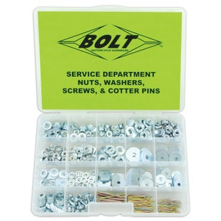 Bolt Hardware Nut Washer Screws and Cotter Pin Assortment Box Generic Bolt Pack - ut, Washer, Screws and Cotter Pin Assortment B