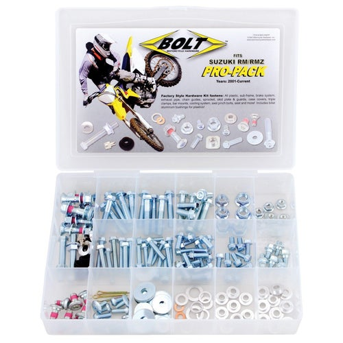 Bolt Hardware Suzuki RM RMZ Style Pro Pack Fastener Kit 01 Bike Specific Bolt Pack - uzuki RM RMZ Style Pro Pack Fastener Kit 01