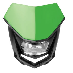 Polisport Plastics Motocross and Enduro Headlight Halo Green Front Light - otocross and Enduro Headlight Halo Green