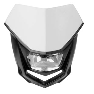 Polisport Plastics Motocross and Enduro Headlight Halo White Front Light - otocross and Enduro Headlight Halo White