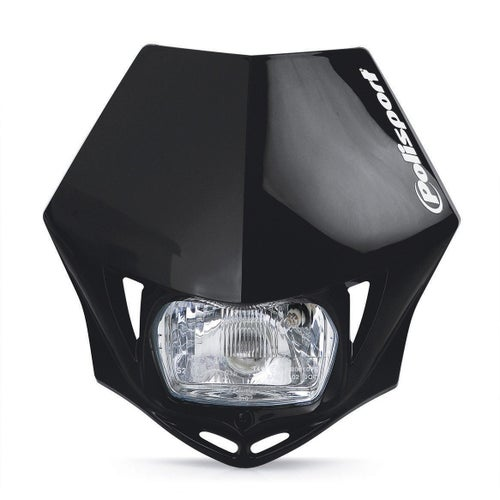 Front Light Polisport Plastics Motocross and Enduro Headlight MMX Black - otocross and Enduro Headlight MMX Black