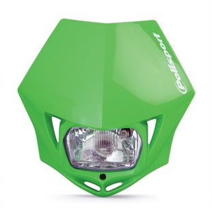 Polisport Plastics Motocross and Enduro Headlight MMX Green Front Light - MMX Green